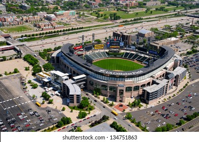 CHICAGO - MAY 18 : Aerial view of U.S. Cellular Field (formerly Comiskey Park) in Chicago on May 18th, 2012. The Baseball Stadium is Home of the Chicago White Sox and has a capacity of 40615.