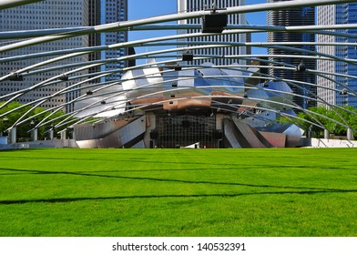 CHICAGO - MAY 18: The Jay Pritzker Pavilion in Chicago on May 18, 2012. The 11,000 capacity pavilion was constructed between June 1999 and July 2004. It serves as the centerpiece for Millennium Park.