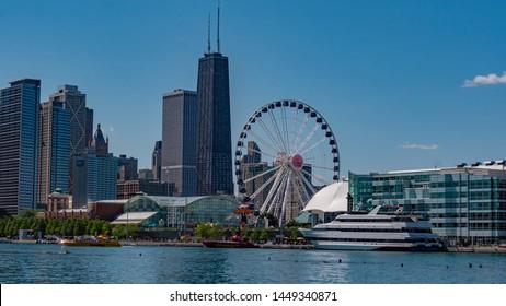 Chicago Navy Pier  - CHICAGO, ILLINOIS - JUNE 11, 2019
