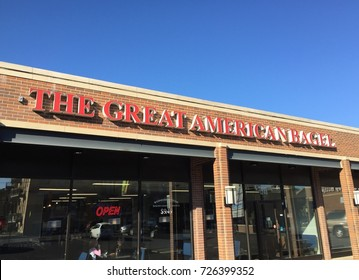 CHICAGO - OCTOBER 2017: The Great American Bagel store in October 2017 in Chicago.