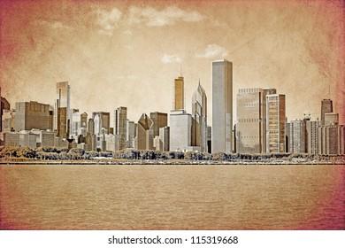 Chicago - Old Postcard Design