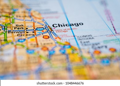 Chicago on the map