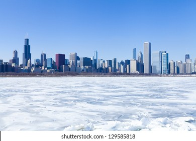 Chicago Panorama in Winter