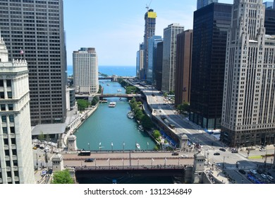Chicago River, Chicago, Il/USA - July 31, 2018