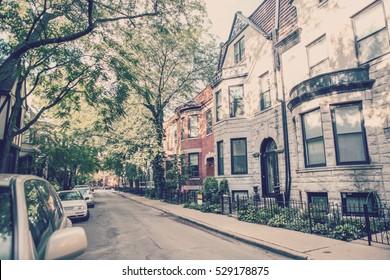 Chicago rowhouse neighborhood
