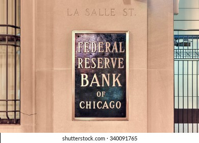 Chicago - September 6, 2015:  Federal Reserve Bank of Chicago (informally the Chicago Fed) on La Salle Street.