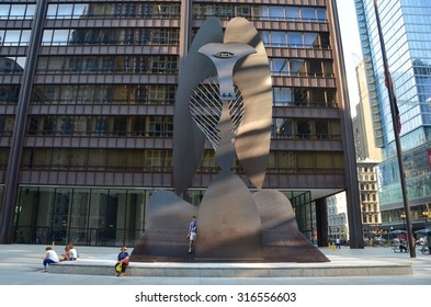 Chicago - September 7, 2015: Sculpture in Chicago by Picasso, USA.