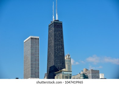 Chicago skyline at lake front