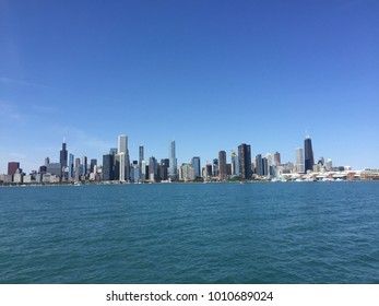 Chicago skyline on the water