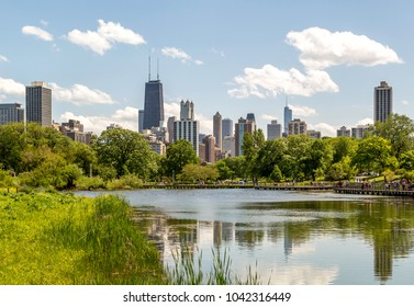 Chicago Skyline from The Park