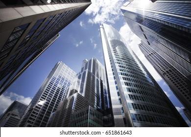 Chicago Skyscrapers on Wacker Drive