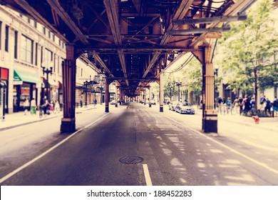 Chicago Street (Tilt Shift Effect)