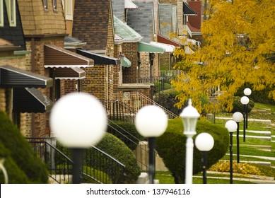 Chicago suburban neighborhood