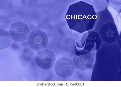 CHICAGO - technology and business concept