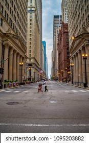 CHICAGO, USA, 10 AUGUST 2017 People walkin in the streets of Chicago.