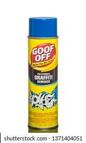 Chicago, USA - April 16, 2019: Goof Off pro strength graffiti remover.