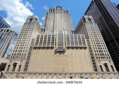 CHICAGO, USA - JUNE 28, 2013: Civic Opera House in Chicago. The Civic Opera Building opened in 1929 and has Art Deco style features.