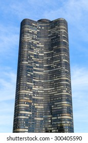 CHICAGO, USA - MAY 24, 2014: Lake Point Tower seen from Chicago River