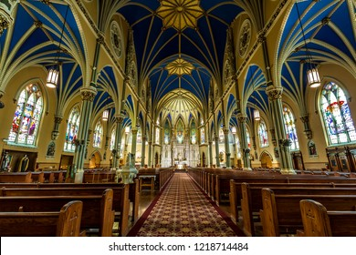 Chicago, USA - November 1, 2018: The St. Alphonsus church in Chicago.