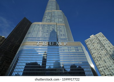 CHICAGO, USA - NOVEMBER 2019: Trump tower in chicago
