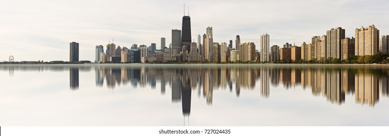 Chicago, USA - October 3, 2017: A panoramic view of the Skyline of the city of Chicago, Illinois.