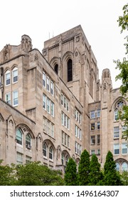 Chicago, USA - September 4, 2019: Views of buildings around the University of Chicago.