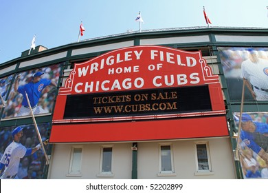 CHICAGO,IL - APRIL 22:  The new owners of the Chicago Cubs on April 22, 2010, in Chicago, debut changes to Wrigley Field.