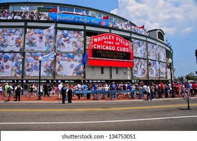 CHICAGO,IL - MAY 20 : The Wrigley Field Baseball Stadium is Home of the Chicago Cubs since 1916. It can sit 41019. It also hosted The National Hockey League Winter Classic on january 1st, 2009.