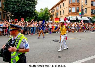 Chicago,Illinois/ Unites States- June 30th 2019: Chicago's annual pride parade in boystown