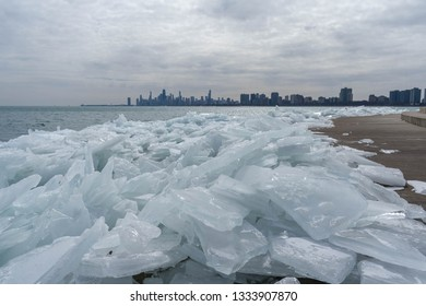 Chicago's Beautiful But Frozen Lakefront