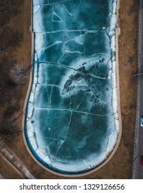 Chicago's Frozen Lake via Drone