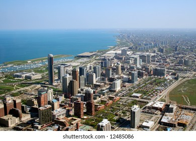 Chicago's south side aerial view