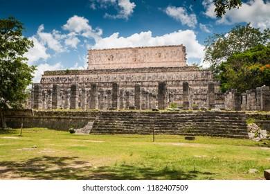 Chicen Itza (Yucatan), Mexico, 11-June-2018. The Mayan ruins in area of Chichen Itza