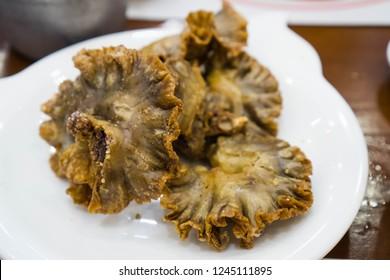 chicharon bulaklak or fried pork intestine