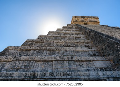 Chichen Itza - El Castillo Pyramid - Ancient Maya Temple Ruins in Yucatan, Mexico