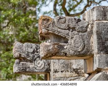 Chichen itza maya ruins, famous archeologic site