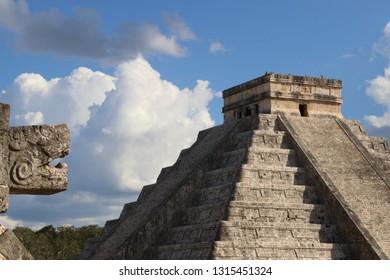 Chichen Itza Maya temple, Mexico.