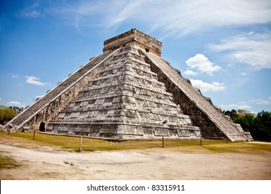 Chichen Itza Mayan pyramid situated in Mexico
