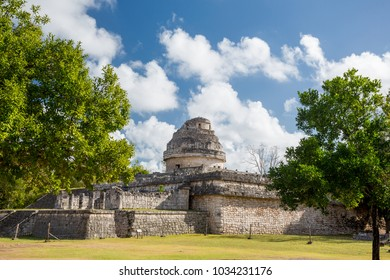 Chichen Itza, The Observatory (El Caracol). Yucatan, Mexico