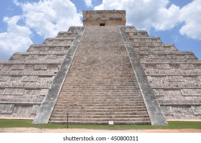 Chichen Itza, one of the seven wonders of the world , with well- preserved ruins and historically rich . Places of sacrifice and blood.
