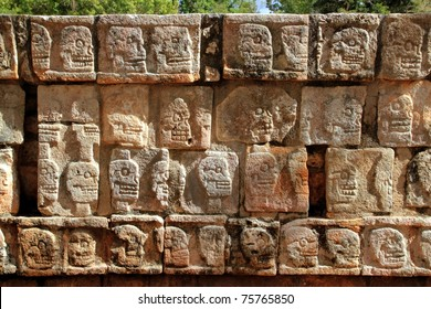 Chichen Itza Tzompantli the Wall of Skulls Mayan Yucatan Mexico