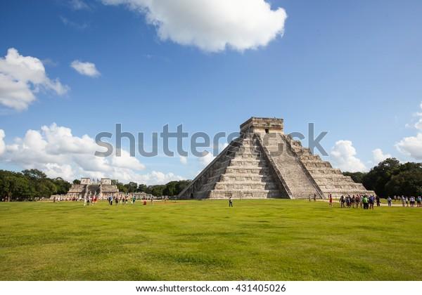 Chichén Itza, Yucatec Maya, una gran ciudad precolombina construida por los mayas de la época de Terminal Clásico.