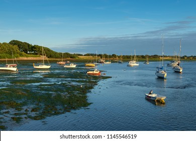 Chichester Harbour, near Dell Quay, Chichester, West Sussex, England, UK. This is the easternmost arm of the extensive Chichester Harbour. The harbour is shallow with deeper channels.