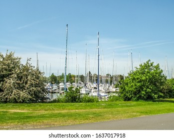 Chichester Harbour, Sussex, England. May 28 2012 View towards boats