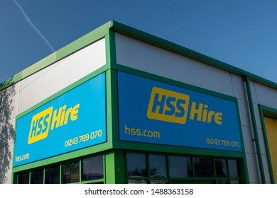 Chichester, West Sussex, UK, August 26, 2019, HSS Hire PLC, Leading supplier of tool & equipment hire in the UK.