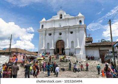 Chichicastenango / Guatemala  - 09/10/14: Iglesia de Santo Tomas Church, Chichicastenango, Guatemala