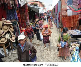 CHICHICASTENANGO, GUATEMALA - SEPTEMBER 2016 - MARKET: Market in Chichicastenango, Guatemala.