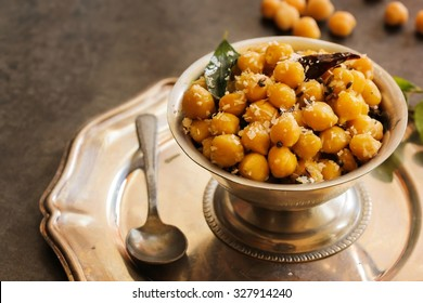Chick pea snack- Traditional festival food of India, selective focus