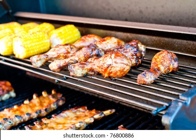 Chicken bones on the grill