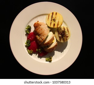 Chicken breast filled with vegetables & egg